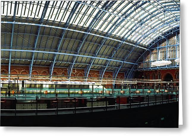 Interiors Of A Railroad Station, St Greeting Card