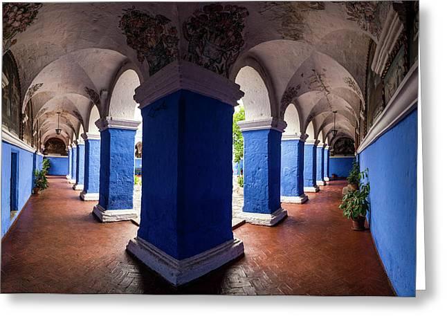 Interiors Of Santa Catalina Monastery Greeting Card by Panoramic Images