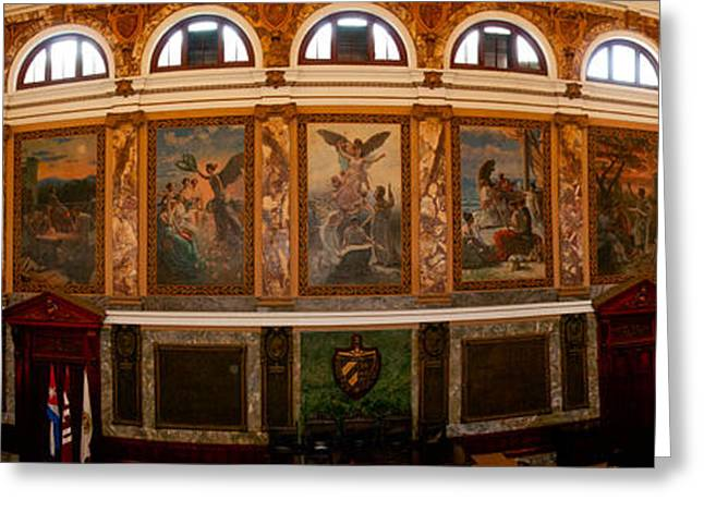 Interiors Of The Aula Magna, University Greeting Card by Panoramic Images