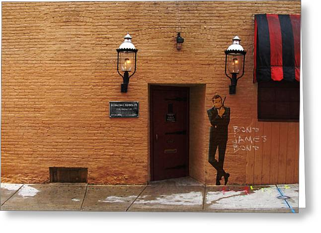 International Exports Ltd Secret Entrance To The Safe House In Milwaukee Greeting Card by David Blank
