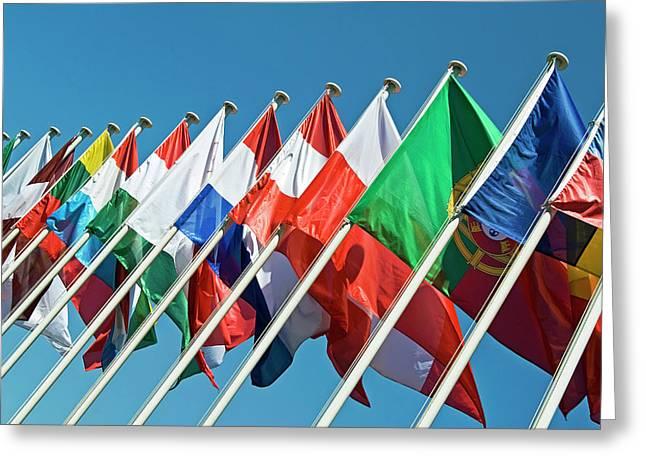 International Flags Greeting Card