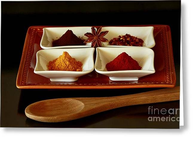International Flair  Spice It Up Greeting Card by Inspired Nature Photography Fine Art Photography