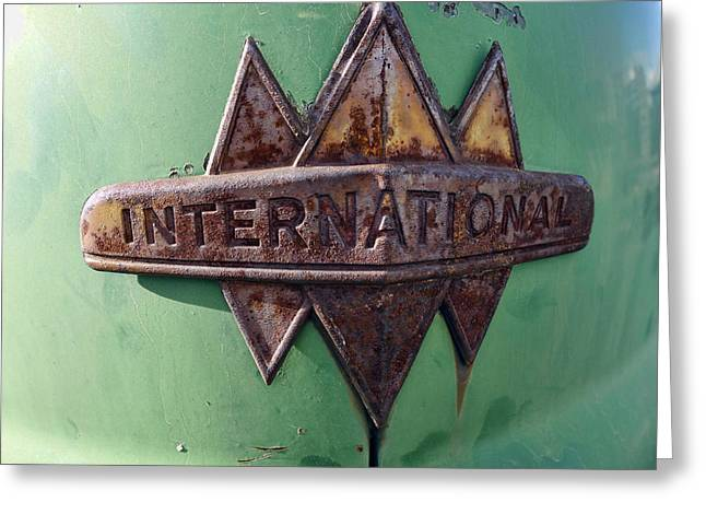 International Harvester Insignia Greeting Card by Daniel Hagerman
