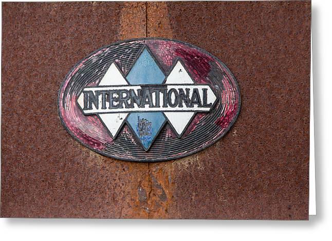 International Hood Emblem Greeting Card by John Hancock