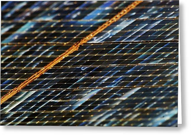 International Space Station Solar Panel Greeting Card by Nasa