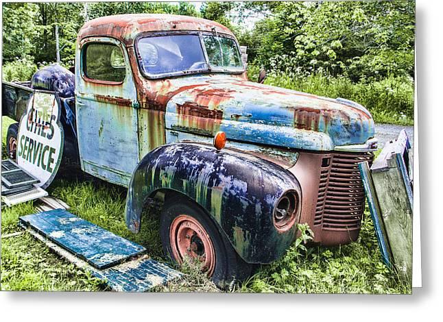 International Trucking Blues Greeting Card by Steven Bateson