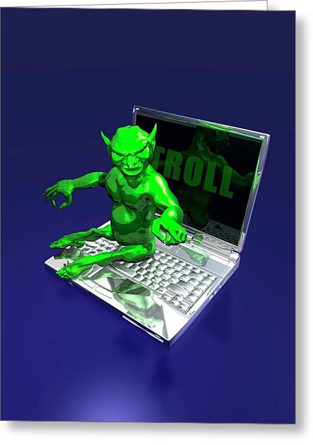 Internet Troll Greeting Card