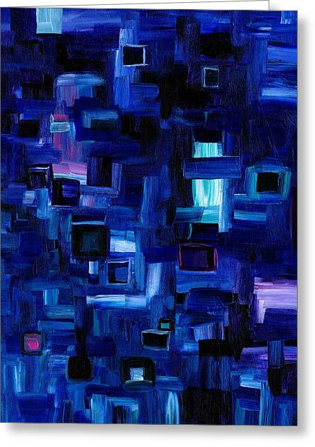 Interplay Blue Greeting Card