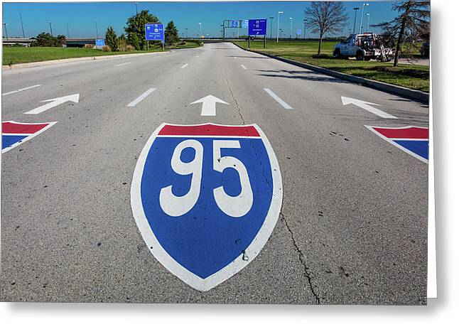 Interstate 95 Road Sign Greeting Card