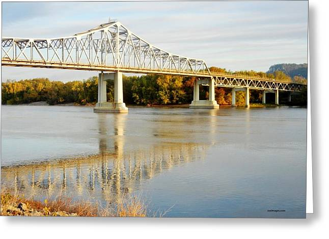 Interstate Bridge In Winona Greeting Card