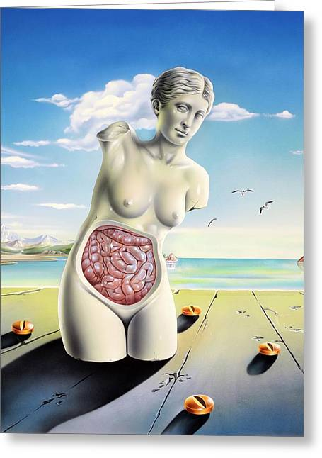 Intestinal Disorders Greeting Card by John Bavosi