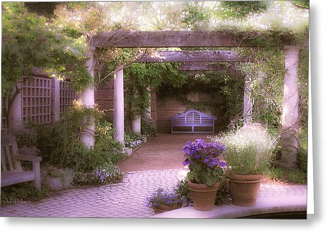 Intimate English Garden Greeting Card by Julie Palencia