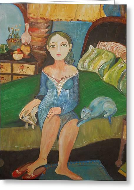 Intimidad Greeting Card by Sandra Dooley