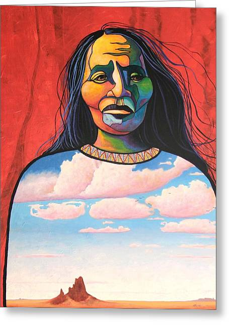 Into Her Spirit Greeting Card by Joe  Triano