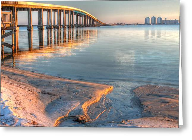 Into Santa Rosa Sound Greeting Card by JC Findley