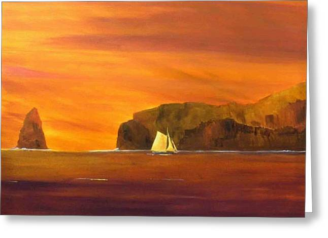 Into Smugglers Cove Greeting Card by Jim Christley