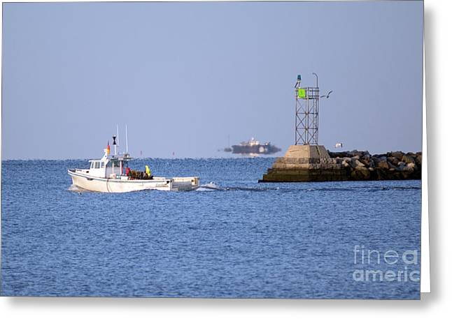 Into The Blue Greeting Card by Joe Geraci