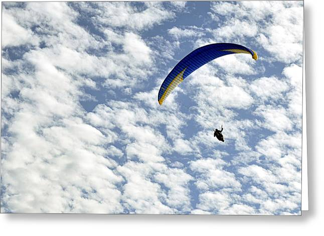 Greeting Card featuring the photograph Into The Blue Yonder by AJ  Schibig