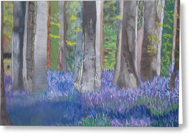 Into The Bluebell Wood Greeting Card