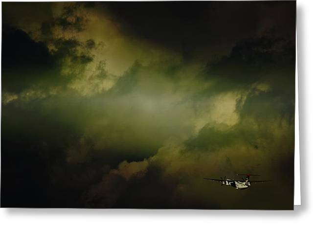 Into The Clouds Greeting Card by Paul Job