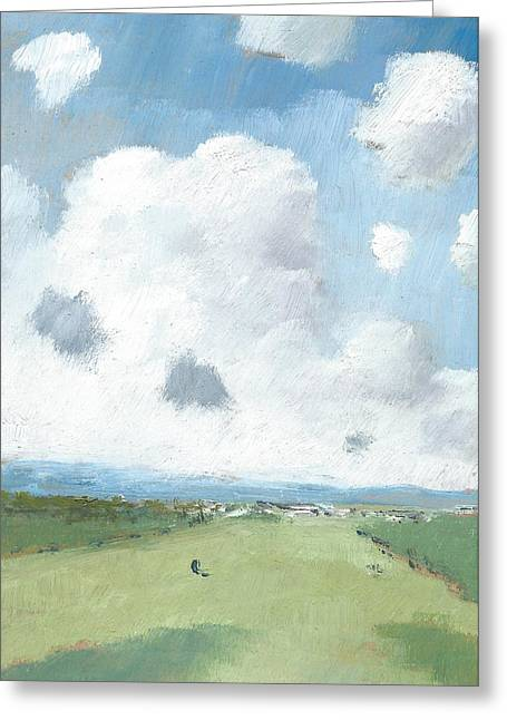 Into The Distance Part Five Greeting Card by Alan Daysh