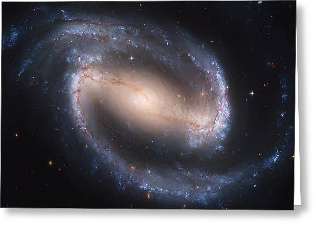 Into The Eye Of A Spiral Galaxy Greeting Card by Jennifer Rondinelli Reilly - Fine Art Photography