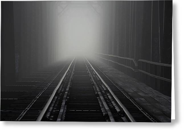 Into The Fog Greeting Card