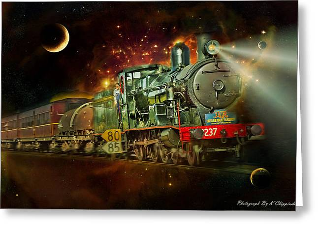 Into The Future 01 Greeting Card by Kevin Chippindall