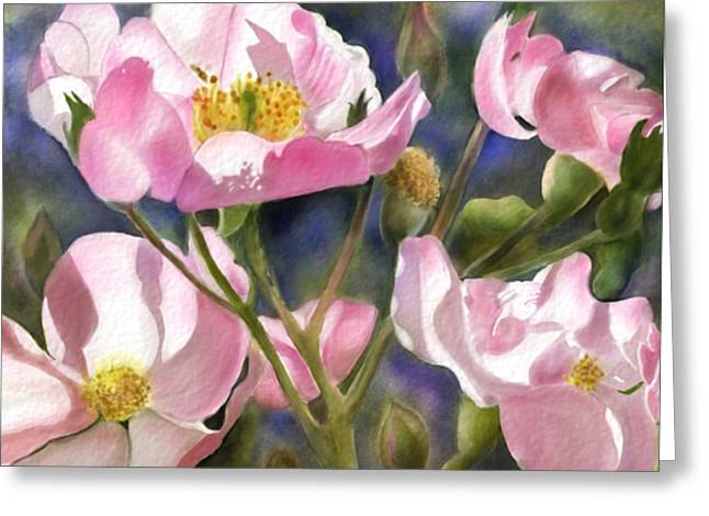 Into The Light Greeting Card by Joan A Hamilton