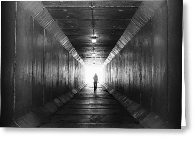 Into The Light...tunnel Greeting Card