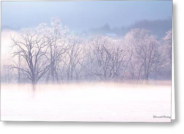 Into The Mist Greeting Card by Laurinda Bowling