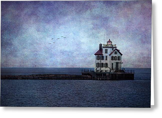 Into The Night Greeting Card by Dale Kincaid