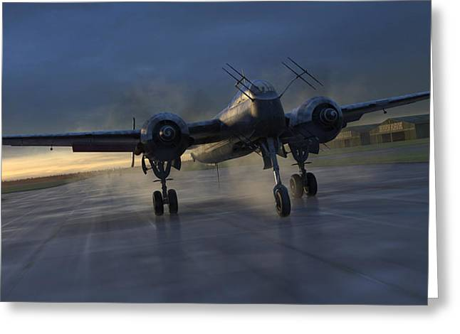 Into The Night Greeting Card by Robert Perry