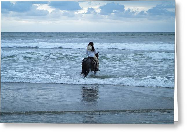 Greeting Card featuring the photograph Into The Ocean by Lana Enderle