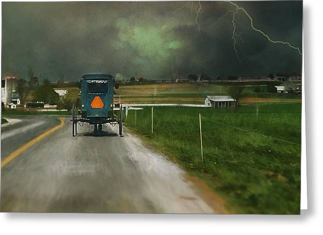 Into The Storm II Greeting Card by Kathy Jennings