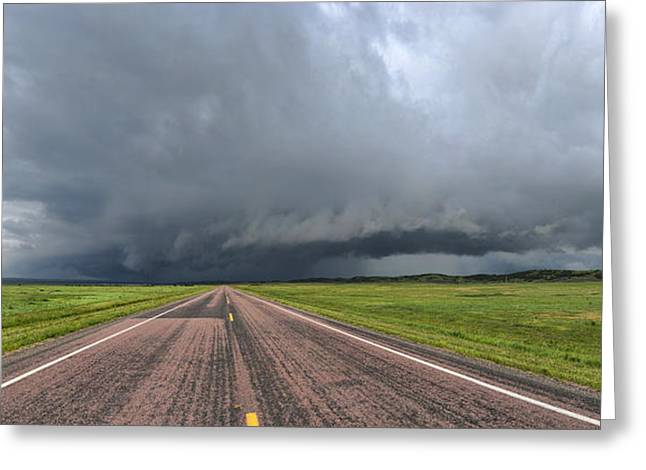 Into The Storm Greeting Card by Sebastien Coursol