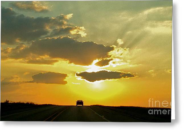 Into The Sunset - No.0580 Greeting Card