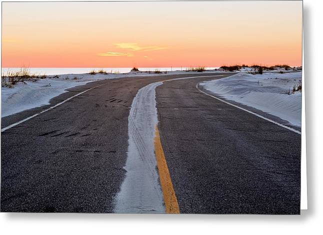 Into The Sunset Greeting Card by JC Findley