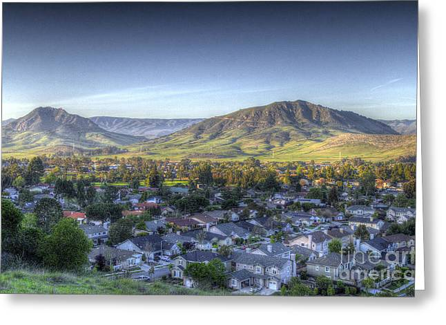 Into The Valley Below Greeting Card
