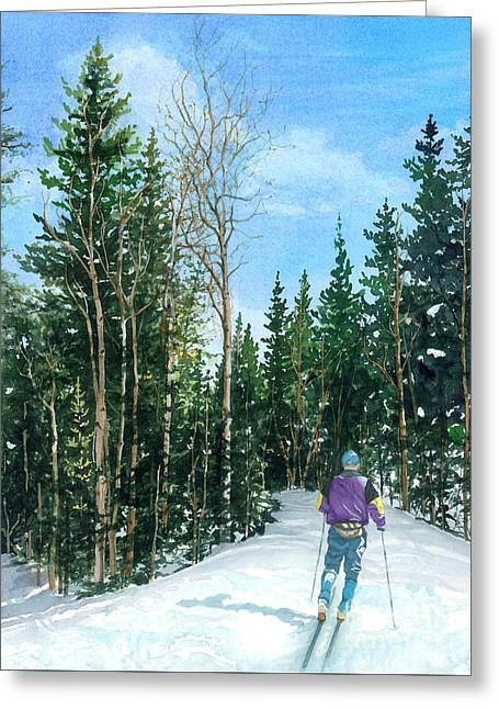 Into The Woods Greeting Card by Barbara Jewell