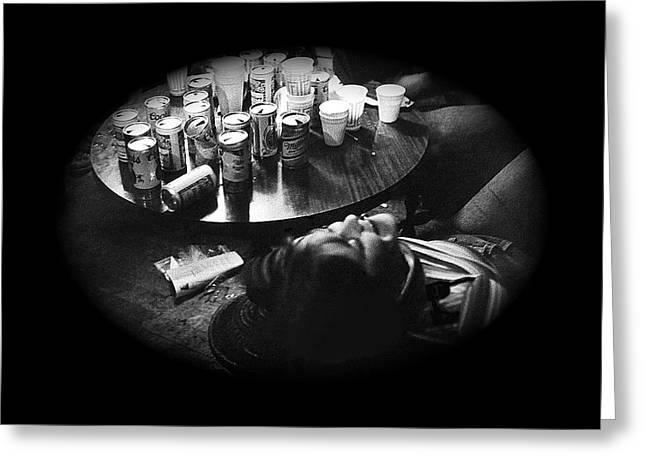 Intoxicated Patron Crystal Palace Saloon Tombstone Arizona 1979 Greeting Card by David Lee Guss