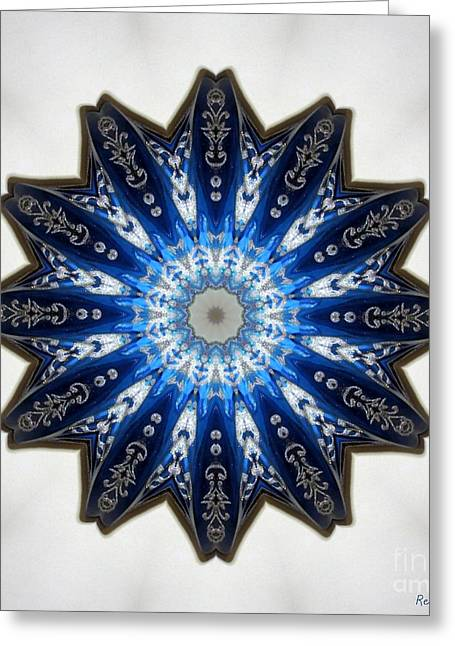 Intricate Shades Of Blue Greeting Card by Renee Trenholm