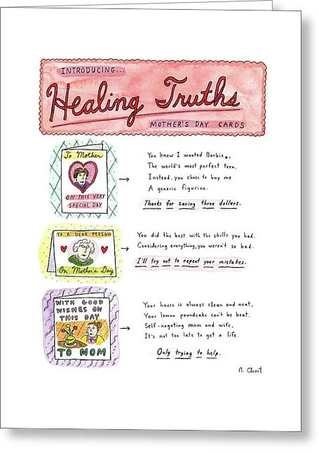 Introducing . . .healing Truths Mother's Day Cards Greeting Card