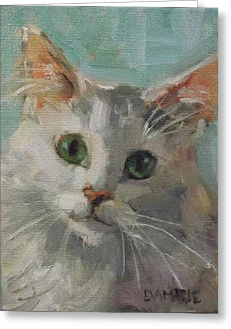 Introducing Oliver Greeting Card by Eva Marie Tanner-Klaas