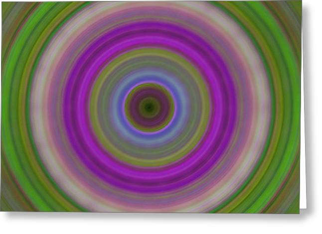 Introspection - Energy Art By Sharon Cummings Greeting Card by Sharon Cummings