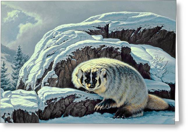 Intrusion -  Badger Greeting Card