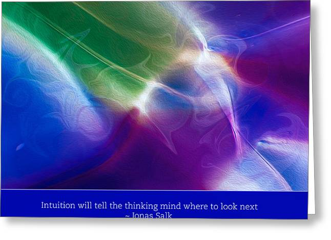 Intuition And The Thinking Mind Greeting Card by Omaste Witkowski