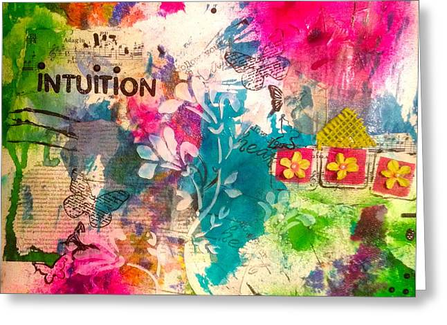 Intuition  Greeting Card by Corina  Stupu Thomas