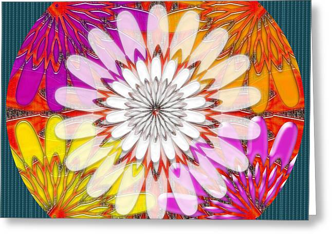 Intuitive Chakra Yoga Meditation Background Designs  And Color Tones N Color Shades Available For Do Greeting Card by Navin Joshi