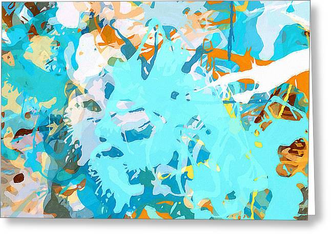 Intuitive Rise Greeting Card by Lourry Legarde